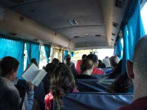 The Bus to Maputo from Tofo Before the Second Stop