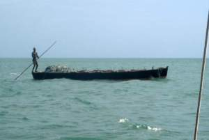 Local Fisherman Polling His Dhow